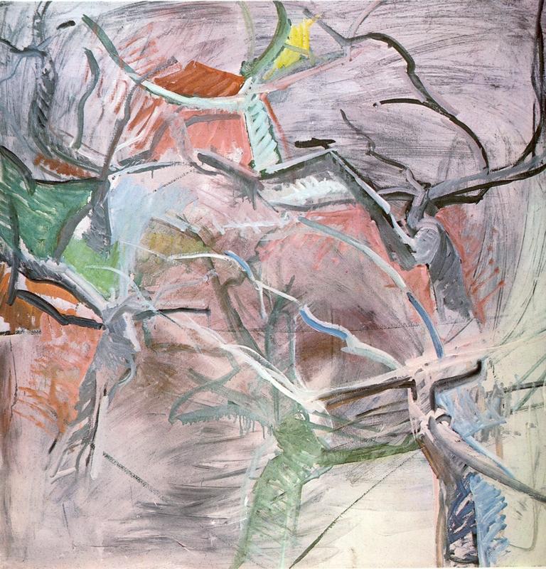 Ansichten eines Mimosabaums I, Öl auf Leinwand, 150 x 150 cm, 1972