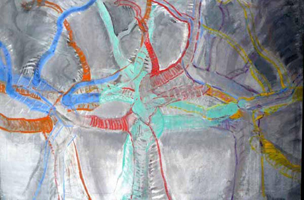 Komposition, Öl auf Leinwand, 132 x 192 cm, 1972
