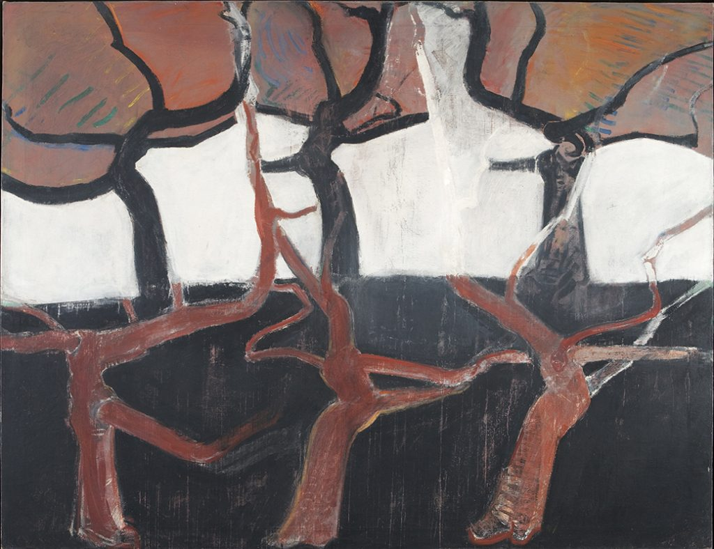Ansichten eines Baumes in Schwarz und Rot, 150 x 193,5 cm, 1972