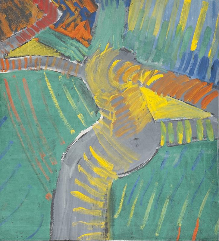 Ast und Raumknoten der Mimosa I, 70 x 56 cm, 1972