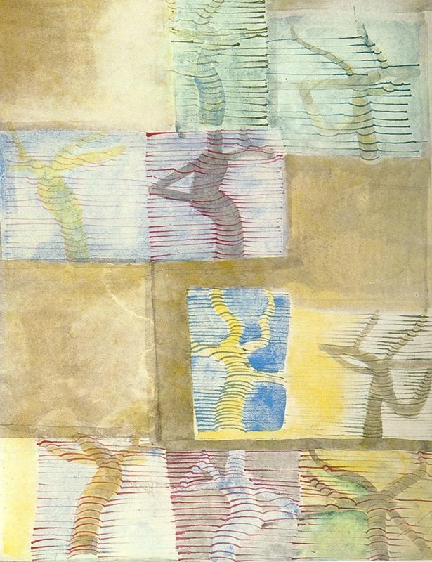 Baumchoreographie, Aquarell und Tusche, 79 x 55 cm, 1973