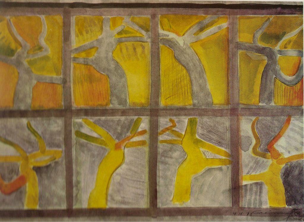 Aquarell und Bleistift, 44 x 60 cm, 1973