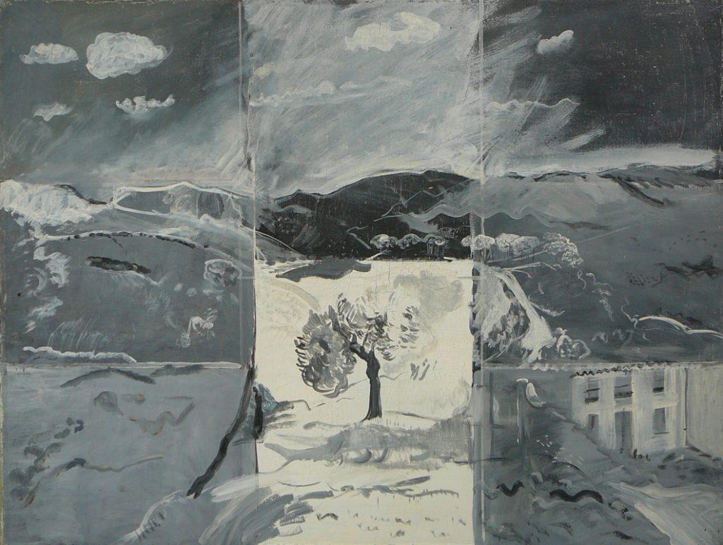 Grisaille, Öl auf Leinwand, 98 x 129 cm, 1978