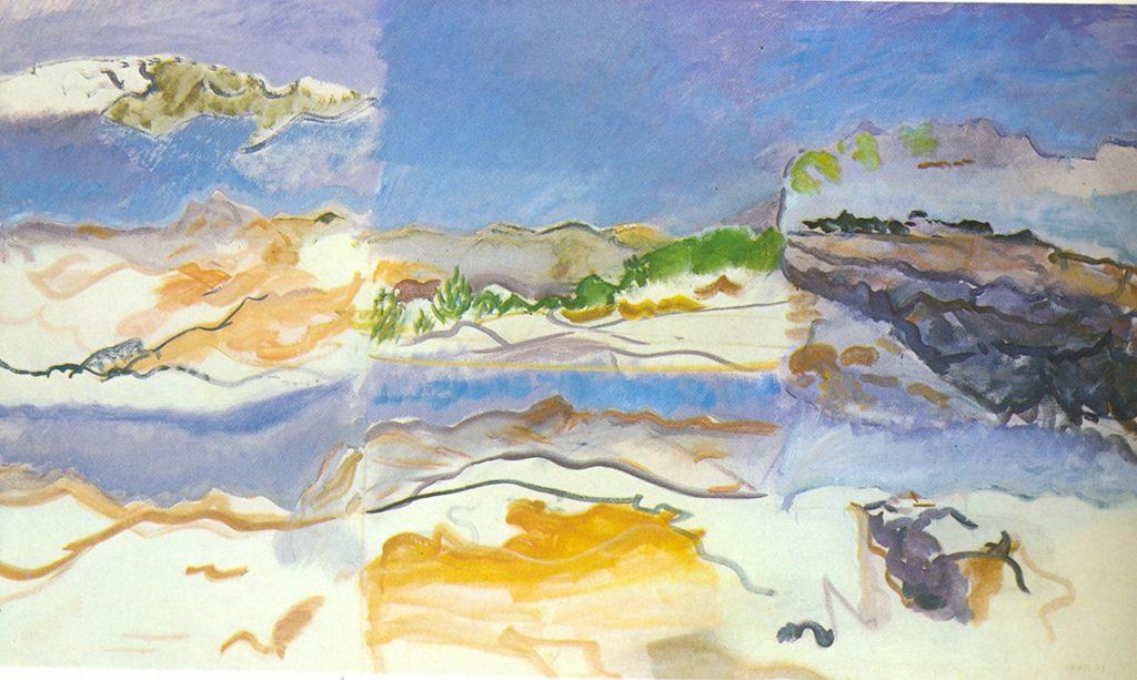 NOWS Landschaft, Öl auf Leinwand, 114 x 196 cm, 1978