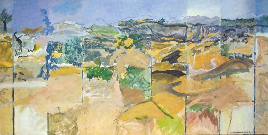 Rundum Blicke, Öl auf Leinwand, 95_x_191_cm, 1978