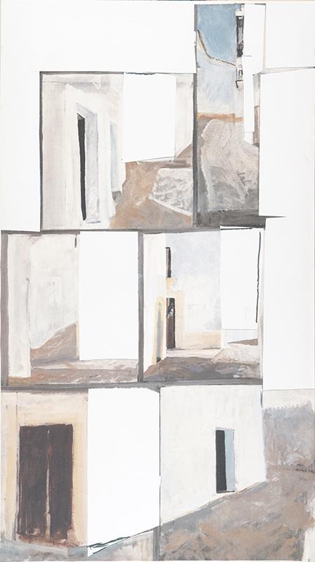 Die Gasse entlang I, 180 x 100 cm, 1977