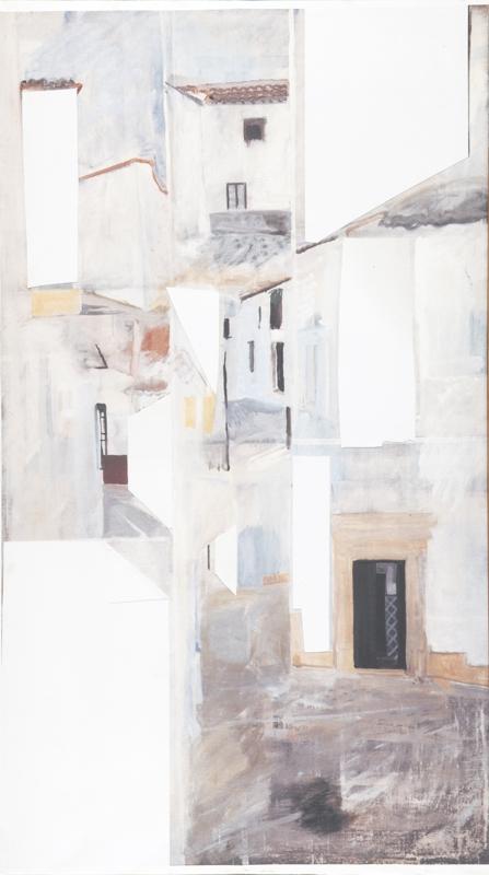 Die Gasse entlang II, 180 x 100 cm, 1977