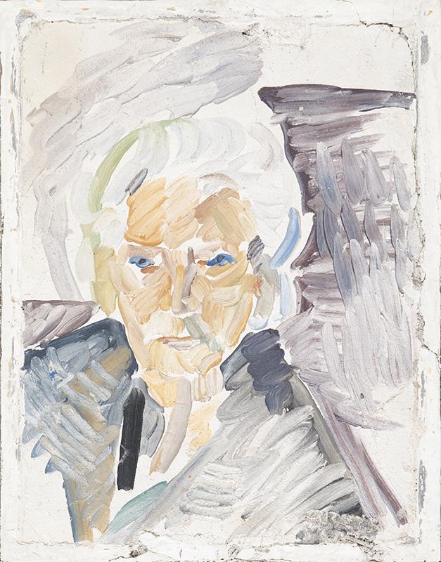 Portrait Agathe Fürstin Schönburg Hartenstein, Fresko, 60 x 45 cm, 1965