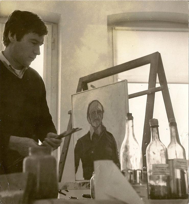 Portraetieren von Oscar Sandner Palais Thurn & Taxis, 1975