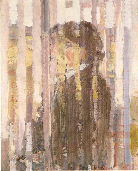 Elizabeth in Weinsteig, 116 x 193 cm, 1984